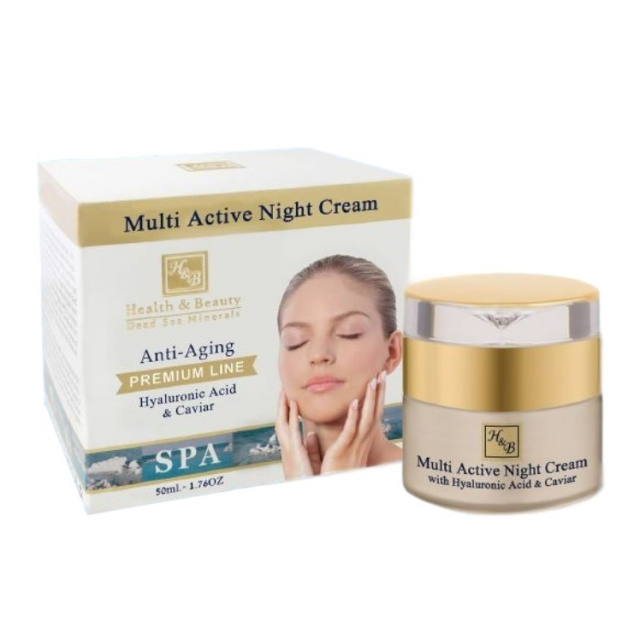 172  Multi-Active Night Cream with Hyaluronic acid and Caviar extract